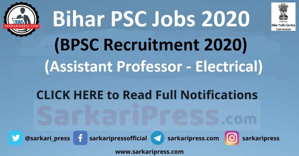 BPSC Assistant Professor